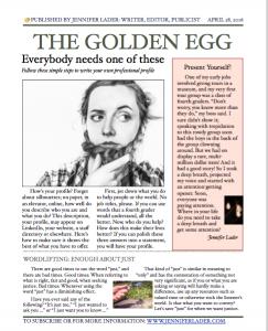 The Golden Egg, April 2016