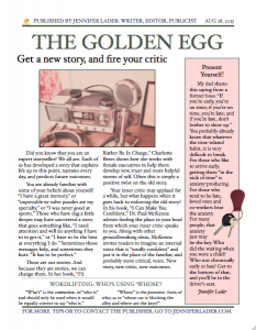 The Golden Egg - Aug 2015