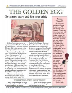 The Golden Egg - Aug 2015