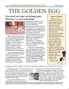 The Golden Egg - June 2015