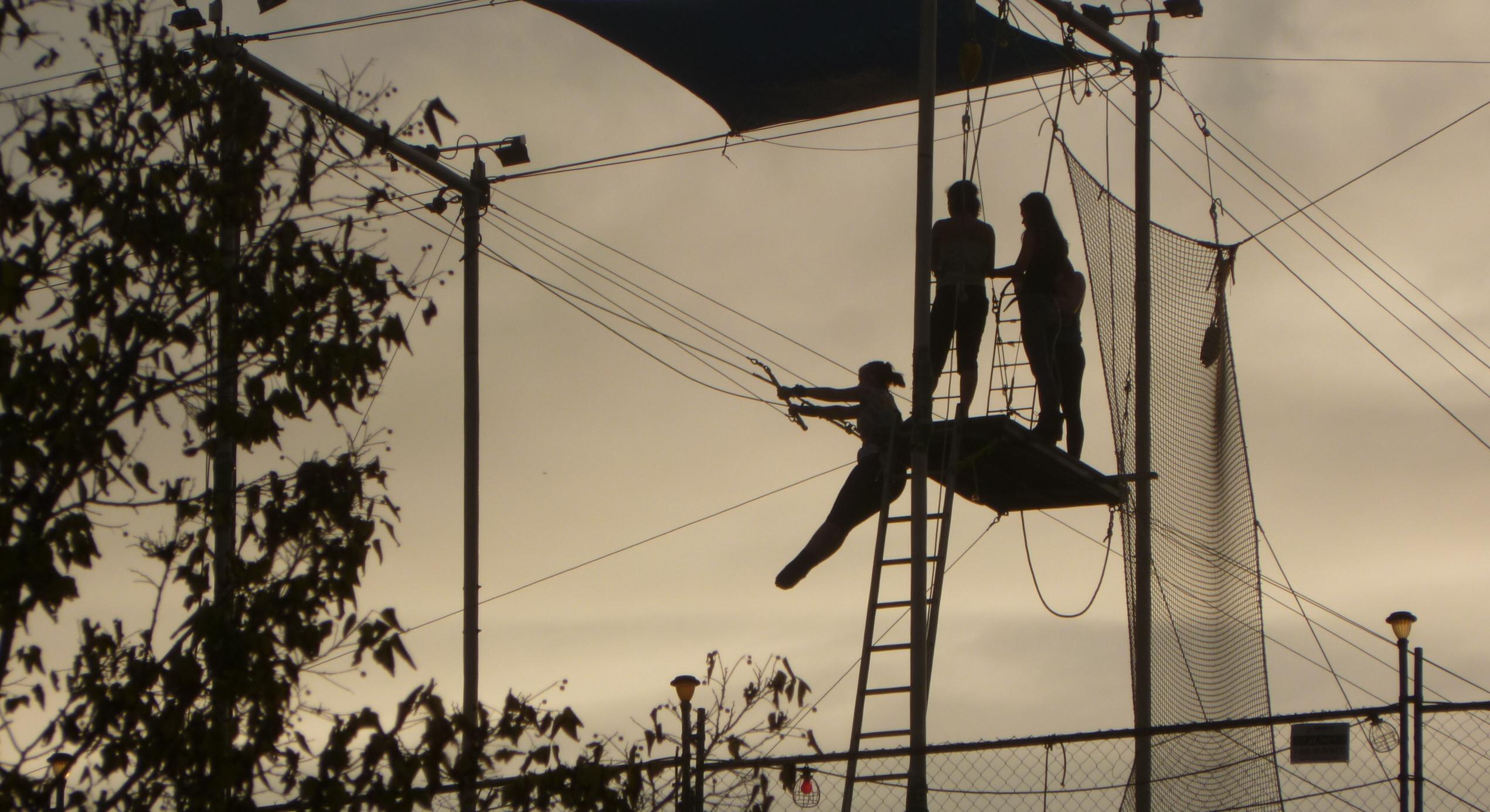 Trapeze school scene